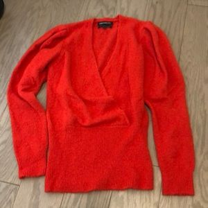 Something Navy red sweater size XS